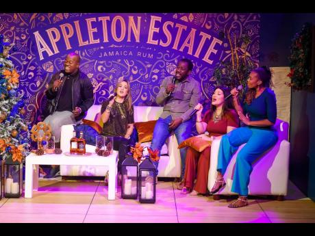 1. The Appleton Estate 'Reserve the Night' cast (from left): Ifidel Williams, Tami Chynn, Wayne Marshall, Tessanne Chin and Thamar Williams, came together to grace viewers with the sweet sounds of the festive season.