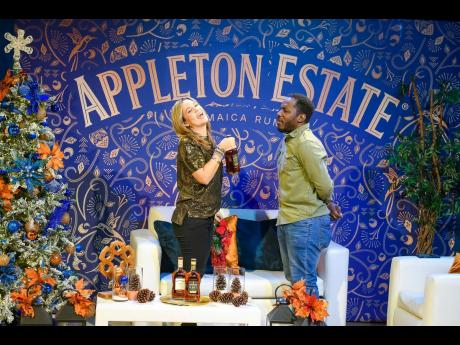 3. Tami Chynn (left) and husband Wayne Marshall show off their improvisation skills, putting on a show for viewers of the Appleton Special holiday stream.