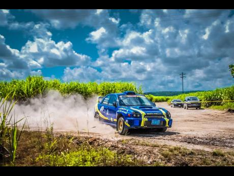 One of Jamaica's most talented rally drivers, Richie 'Sir Rich' Rerrie.