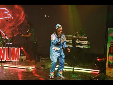 Reggae artiste Capleton was his usual self in a standout ensemble.