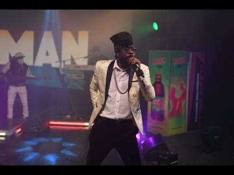 The King Beenie Man makes a dazzling entrance to the Magnum Xplosion stage.