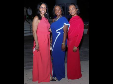 From left: Paula-Ann Lee-Smith, Marsena Allen and Angella Stephenson ringing in 2021 in style.