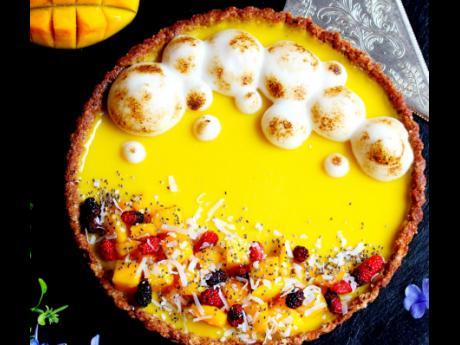This mango passion tart will definitely lift your spirits.