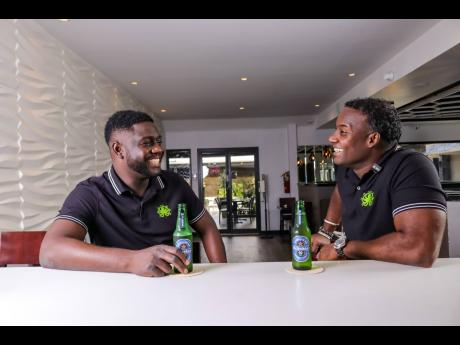 Taje Samuels (left) and Ryan Mitto, co-founders of WELLSKILL Entertainment, share stories of how they handle attempts by underage patrons to drink at events.