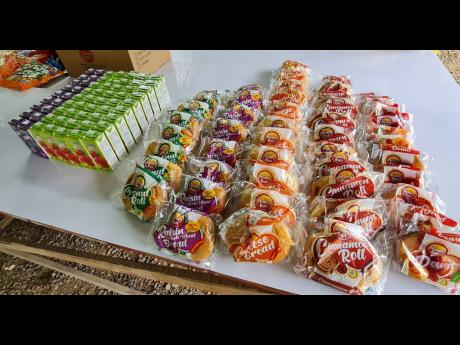 Some of the treats the children received.