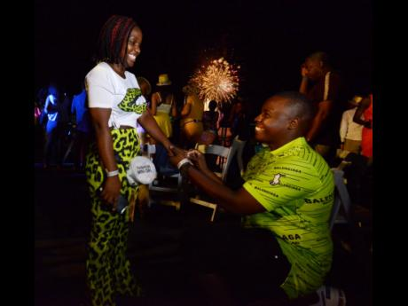 First came love, then came a New Year's Day proposal, wedding and baby for Narmeo Walker and Tashanna McCourty.