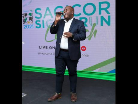 Shane Bennett, Sagicor Group Social and Digital Marketing Officer belts out his rendition of the hit classic 'The Impossible Dream'.