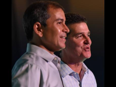 Wisynco CEO Andrew Mahfood (left) and Chairman William Mahfood.