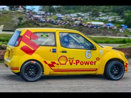 Tarik Minnott's Suzuki Ignis has not been seen in competition recently.