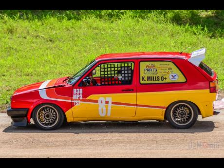 Team Brown's Town, Keith Mills and his VW Golf represented his community with pride.