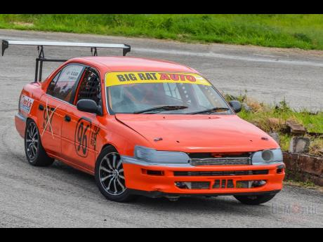 One could not miss the bright orange Big-Rat-Auto Toyota Corolla whenever it was on track.