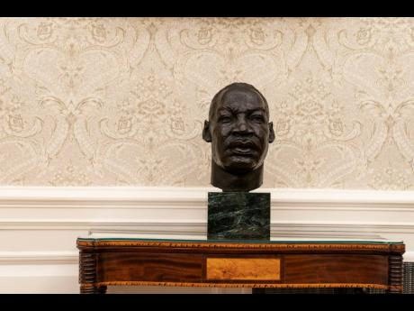 A bust of civil rights icon Martin Luther King Jr, whose life and legacy was recently commemorated on Martin Luther King Jr Day last Monday, sits beside Rosa Parks's sculpture.