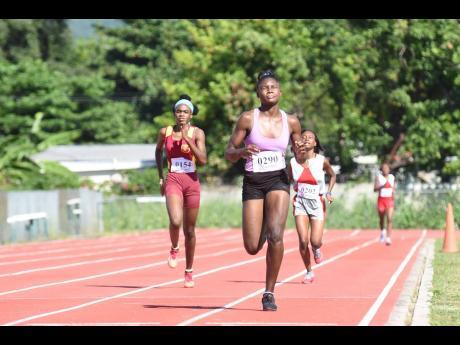 Vere Technical High School's Amanda Thrue wins the Class One girls' 800m race at the Tyser Mills Classics at Calabar High School on Saturday, December 12, 2020.