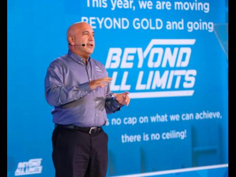 President and CEO, Sagicor Group Jamaica, Christopher Zacca leads the charge for the year ahead as he addresses the more than 2,400 team members who joined 'Blast Off' virtually.