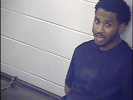 Trey Songz is seen in an undated photo provided by the Jackson County Detention Center, in Kansas City, Missouri. The R&B singer was arrested and jailed overnight after he scuffled with several officers while being arrested for not following coronavirus pr