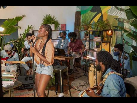 Sevana took the NPR Tiny Desk (Home) series stage backed by her band.