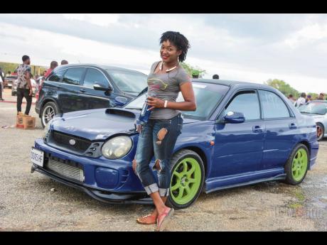 Irrespective of what she owns, race fan Donamar Waite's first love is a Subaru WRX.