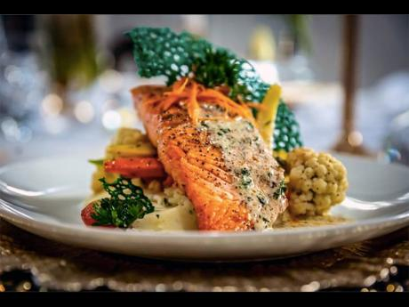 ABOVE: Whether pan-seared or herb-crusted, the salmon comes highly recommend by Yanique 'Curvy Diva' Barrett and her staff.
