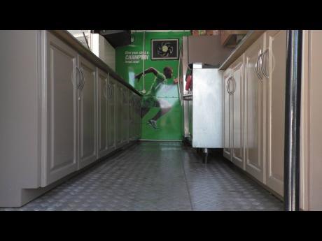A mobile kitchen.