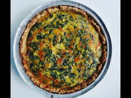 Satisfy hunger with this delicious ackee quiche.
