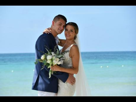 Nichelous and Leah's beautiful love story was sealed in matrimonial bliss at Beaches Negril.