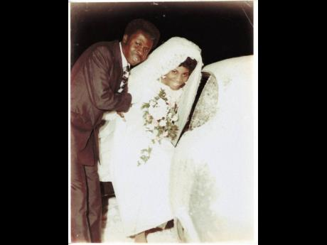 Fay and Benny Mallitt on their wedding day in  December 1970. The two wed at the Cote St Luc Baptist Church in Montreal, Canada.