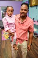 Businessman Cadeem Mullings and his daughter, Mia Alexis.
