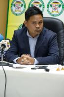 Gregory Chung, president of the Jamaica Gasolene Retailers Association, at a press conference at King's Plaza on Saturday.