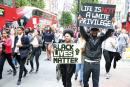 The Black Lives Matter protesters march in central London in solidarity with their US counterparts.