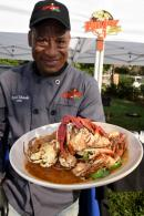 Chef Evrol Ebanks, owner of EATINGZ with Evrol, hosted a recent pop up kitchen in Kingston.